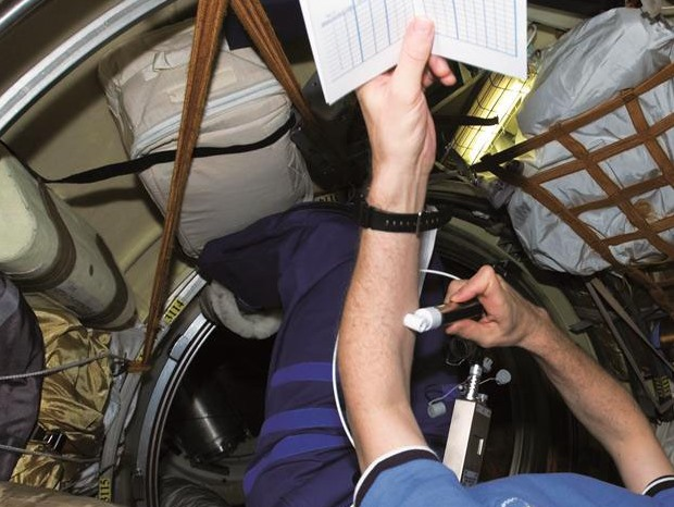 Tewameter® used on the International Space Station ISS